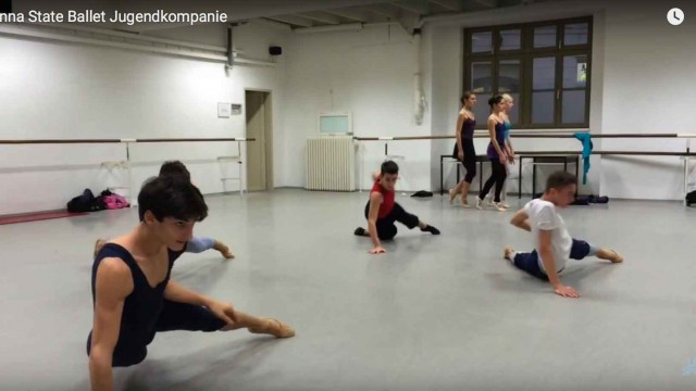 Rehearsal of Hanna at Vienna State Ballet with Robert S